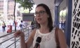 A engenheira Ana Campos dá seu depoimento sobre o policiamento no Centro