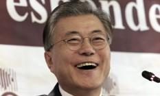 Moon Jae-in é líder do Partido Democrático Unido Foto: Ahn Young-joon / AP