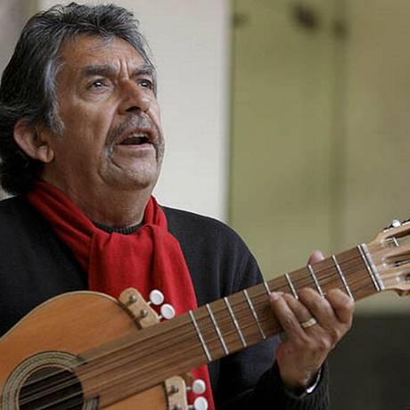 O músico Ángel Parra era filho da cantora Violeta Parra Foto: Alberto Morante / EFE