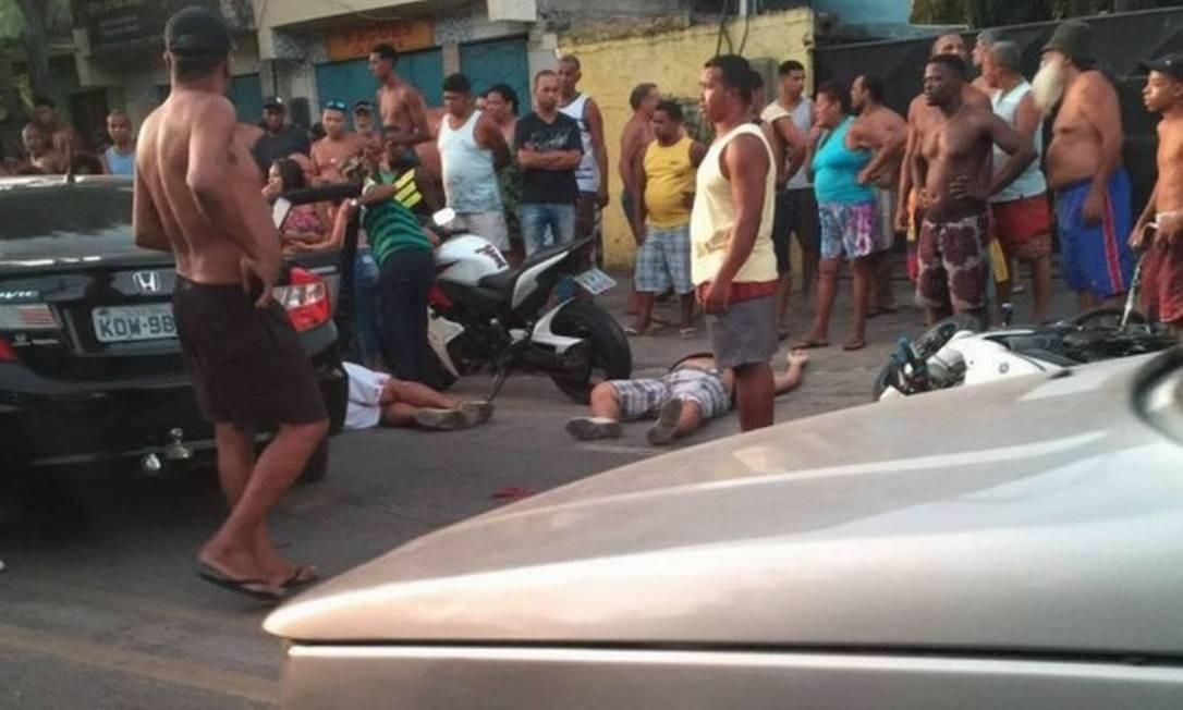 Crime em São Gonçalo terminou com quatro mortos e um baleado Foto: Reprodução - 13/03/2017