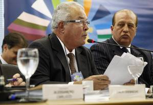 Emilio Odebrecht, durante palestra no Rio de Janeiro, em 2015. Foto de Laura Marques / Agência O Globo Foto: Laura Marques/ 14-5-2013