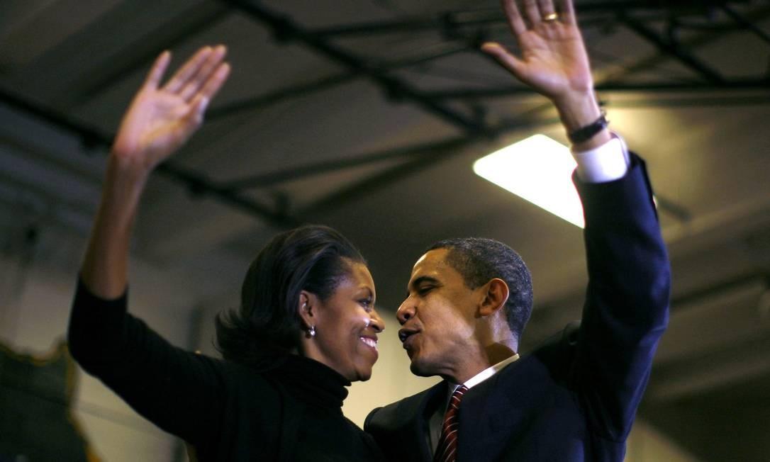 O ex-presidente dos EUA Barack Obama e sua esposa Michelle Foto: Jim Young / REUTERS