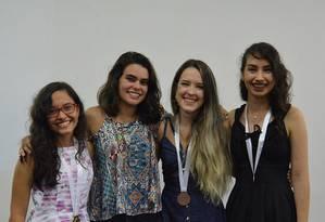 Jamile Falcão, Júlia Perdigão, Ana Karoline, a vice-líder da equipe, e Mariana Bigolin Foto: Divulgação Impa