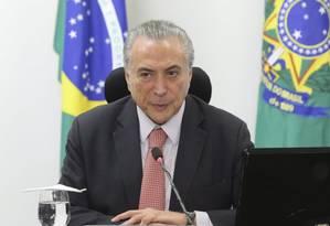 O presidente da República, Michel Temer Foto: Ailton Freitas / Agência O Globo