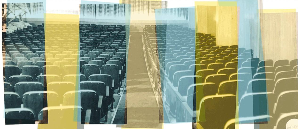 Sala de cinema Foto: Arte sobre reprodução