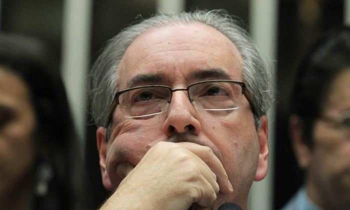 Eduardo Cunha está preso em Curitiba e já responde a uma ação por propina em contrato da Petrobras na África Foto: Aílton de Freitas / O Globo