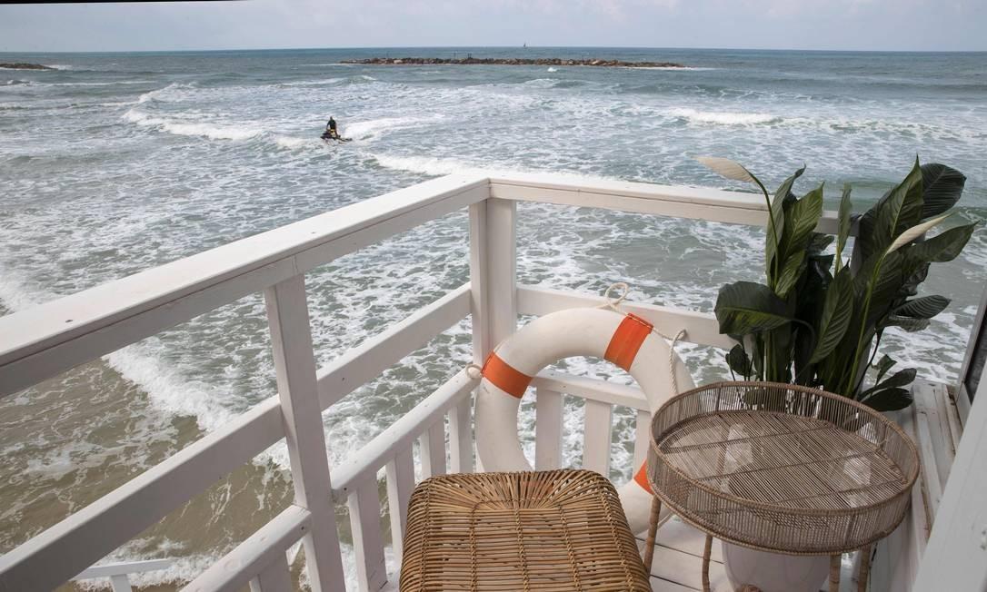 Após a hospedagem dos casais, o local será demolido Foto: JACK GUEZ / AFP