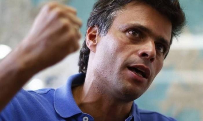 Líder opositor, Leopoldo López está preso desde fevereiro de 2014 na Venezuela Foto: Jorge Silva / Reuters