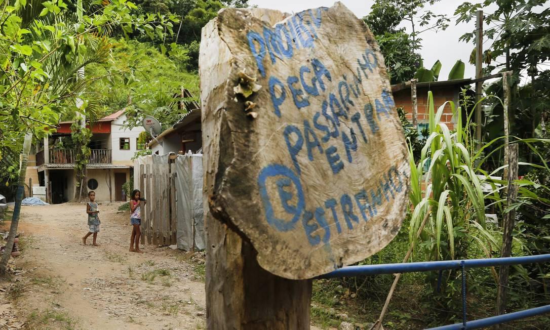 Sítio onde morava o pedreiro Watila Santos, morto por febre amarela Foto: Antonio Scorza / Agência O Globo