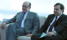 O presidente do STF, Gilmar Mendes, e o presidente da Câmara, Rodrigo Maia (à dir.) Foto: Jorge William / Agência O Globo 15/03/2017