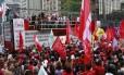 Protesto contra a reforma da previdência em São Paulo