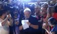 PA São Paulo ( SP ) 15/03/2017 Manifestação na Av. Paulista contra as novas regras para aposentadoria proposta pelo governo na reforma da previdencia. Na foto, o ex- presidente Lula. Foto: Edilson Dantas / Agencia O Globo