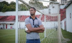 Goleiro Bruno no Boa, time da cidade de Varginha MG. Foto: Marcos Alves / Agência O Globo