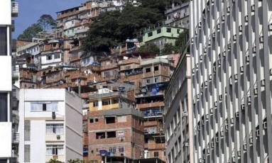 Morro do Pavão-Pavãozinho, onde houve tiroteio Foto: Marcelo Carnaval / Agência O Globo / Arquivo