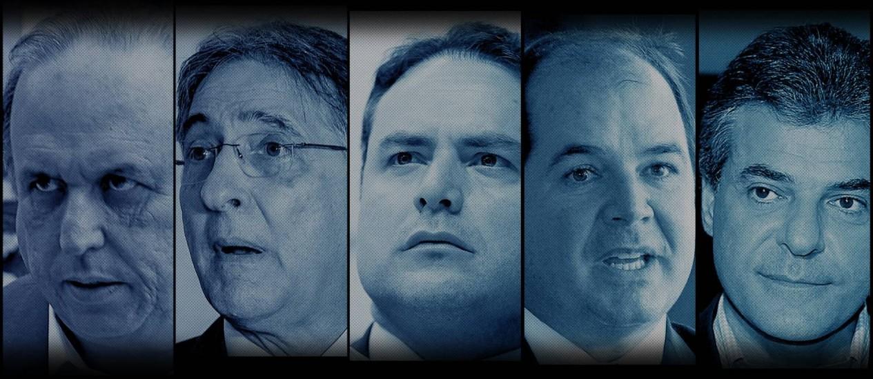 Governadores citados na lista de Janot Foto: Montagem/ O GLOBO