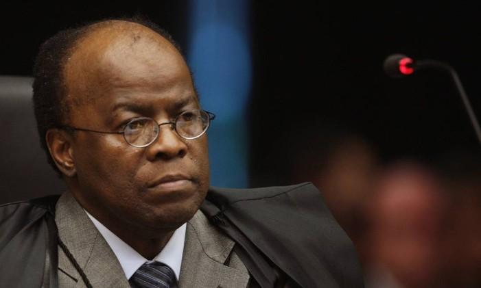 O ex-ministro do STF Joaquim Barbosa Foto: Nelson Jr. / STF / 4-5-2011