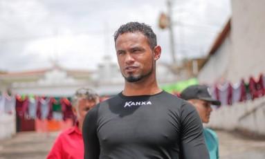 Goleiro Bruno no treino do Boa Esporte, em Minas Foto: Marcos Alves