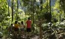 Frequentadores no Poço das Antas, na Floresta da Tijuca Foto: Ana Branco / Agência O Globo