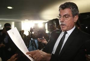 O senador Romero Jucá (PMDB-RR), líder do governo no Senado Foto: Ailton de Freitas / Agência O Globo