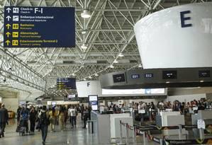 Aeroporto Internacional do Galeão Foto: Fernando Lemos / Agência O Globo