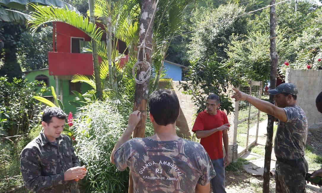 Local onde morava pedreiro que morreu vítima de febre amarela em Casimiro de Abreu Foto: Antonio Scorza / Agência O Globo