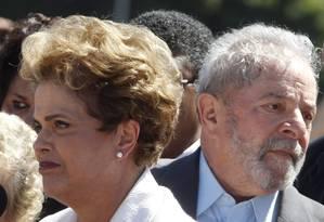 Os ex-presidentes Dilma Rousseff, e Luiz Inácio Lula da Silva Foto: Givaldo Barbosa / Agência O Globo