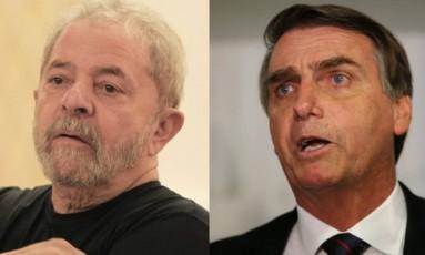 Ex-presidente Lula e o deputado Jair Bolsonaro (à dir) Foto: Arquivo