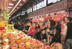 Mercado La Boqueria Foto: Claudia Sarmento