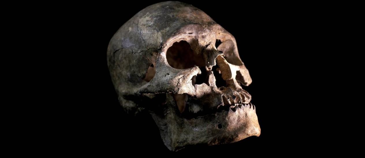 Crânio encontrado em cidade mineira contesta teoria de apenas uma migração para América do Sul Foto: Mauricio de Paiva