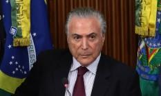Presidente Michel Temer Foto: Givaldo Barbosa / Agência O Globo