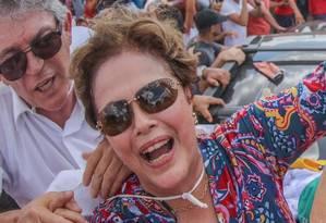 Dilma e Lula durante evento na Paraíba Foto: Roberto Stuckert / Instituto Lula