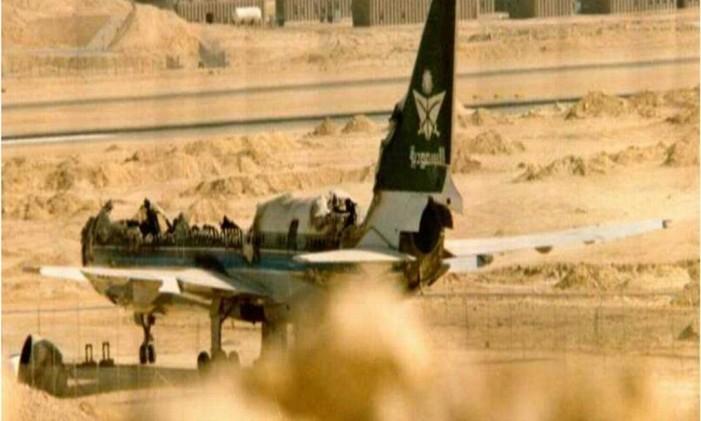 Avião da Saudia sofreu incêndio que matou 301 a bordo Foto: Reprodução