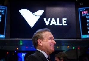 Murilo Ferreira, presidente da Vale, na bolsa de Nova York Foto: Michael Nagle / Michael Nagle/Bloomberg/29-11-2016