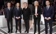 Francois Fillon, Emmanuel Macron, Jean-Luc Melenchon, Marine Le Pen e Benoît Hamon: embate na TV