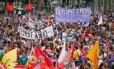 Marcha em comemoração ao Dia Internacional da Mulher, no último dia 8, em São Paulo