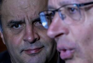 O senador Aécio Neves e o governador de São Paulo, Geraldo Alckmin, estão na lista de Rodrigo Janot Foto: Pedro Kirilos/08-07-2016 / Agência O Globo