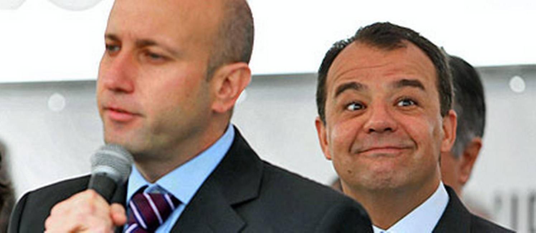 Sérgio Côrtes, ex-secretário de Saúde, e o então ex-ministro José Gomes Temporão e o ex-governador Sérgio Cabral Foto: Reprodução