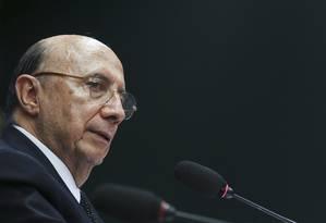 O ministro da Fazenda Henrique Meirelles Foto: Ailton Freitas