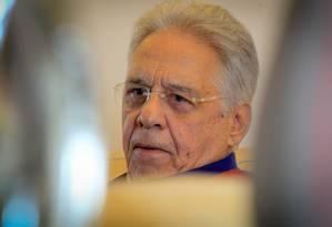 Fernando Henrique Cardoso: lista fechada tem 'cheiro de impunidade' Foto: Marcos Alves/ 4-9-2015 / Marcos Alves