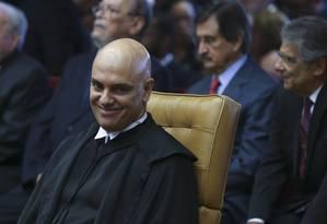 Alexandre de Moraes tomou posse nesta quarta-feira como ministro do Supremo Tribunal Federal Foto: Ailton de Freitas / Agência O Globo