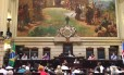 Audiência pública promovida pela Frente Parlamentar em Defesa da Previdência Municipal que questionou a proposta de taxação de inativos Foto: Natália Boere