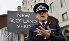 O chefe da unidade antiterrorista da Scotland Yard conversa com jornalistas Foto: JUSTIN TALLIS / AFP