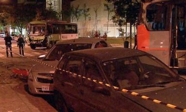 Acidente envolvendo quatro veículos deixa um morto na Zona Oeste de São Paulo Foto: Reprodução/TV Globo
