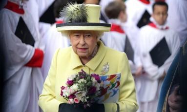 Em 13 de março, rainha Elizabeth II participa de evento oficial em Londres Foto: DANIEL LEAL-OLIVAS / AFP