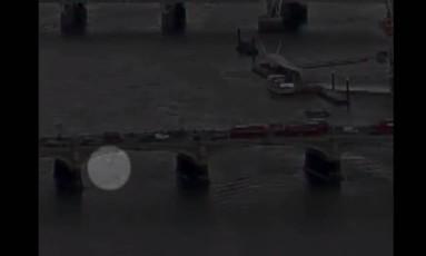 Mulher caiu da Ponte de Westminster para as águas do Tâmisa Foto: Reprodução