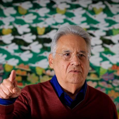 O ex-presidente Fernando Henrique Cardoso: plebiscito, voto obrigatório e candidaturas independentes Foto: Marcos Alves / 7-9-2015