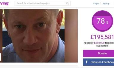 Keith Palmer foi morto a facadas por terrorista em atentado em Londres Foto: Reprodução JustGiving