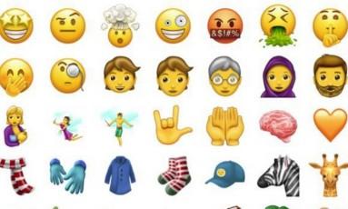 137 novas figurinhas foram divulgadas Foto: Reprodução/Emojipedia