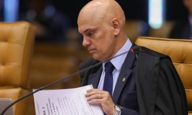 Primeira sessão plenária do ministro Alexandre de Moraes no Supremo Tribunal Federal Foto: Andre Coelho / Agência O Globo