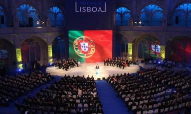 Enviados europeus acompanham sessão no Mosteriro dos Jerónimos em meio ao Tratado de Lisboa, em 2007 Foto: Reuters